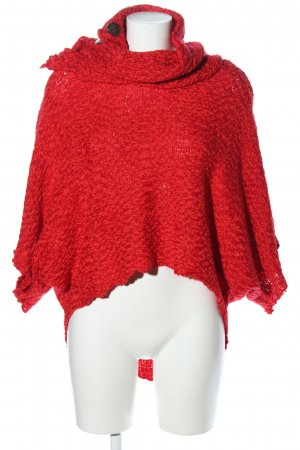 Coline Strickponcho rot