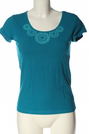 Coline T-Shirt blue-turquoise themed print casual look