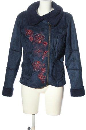 Coline Winter Jacket blue flower pattern casual look
