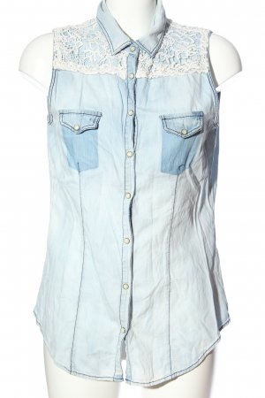 Colins Blusa denim blu stile casual