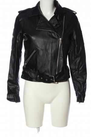 Colins Faux Leather Jacket black casual look