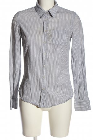 Colins Long Sleeve Shirt light grey-white striped pattern business style