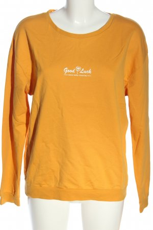 Colins Longsleeve light orange-white printed lettering casual look
