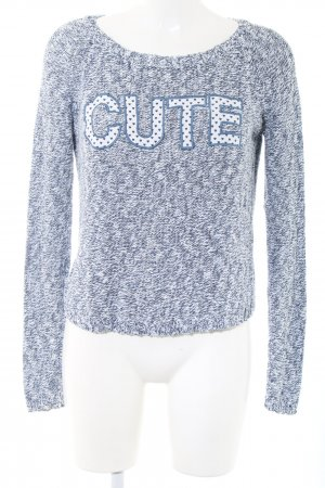 Colins Knitted Sweater blue-white flecked casual look