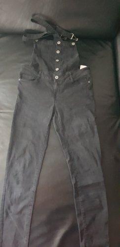 Jeans met bovenstuk donkergrijs