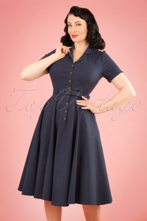 Collectif- Caterina Plain Swing Dress