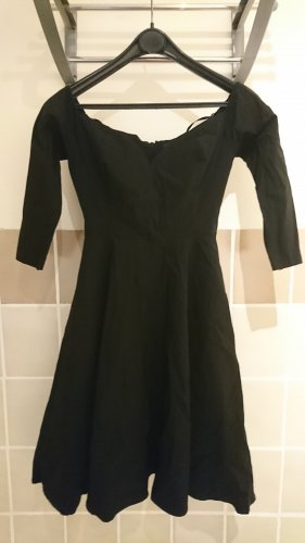 Collectif Clothing 50s Rachel Doll Swing Dress in Black