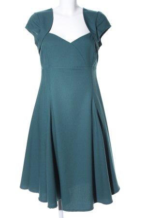 Collectif Cocktailkleid blau Casual-Look