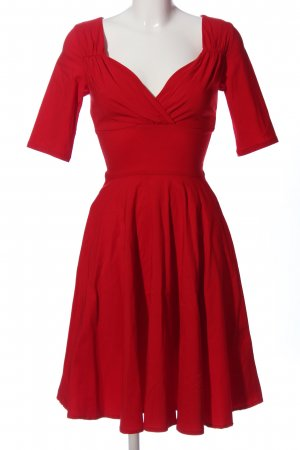 Collectif Empire Dress red business style
