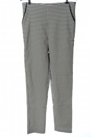 Collectif High Waist Trousers black-white allover print casual look