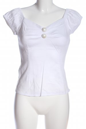 Collectif Short Sleeved Blouse white casual look