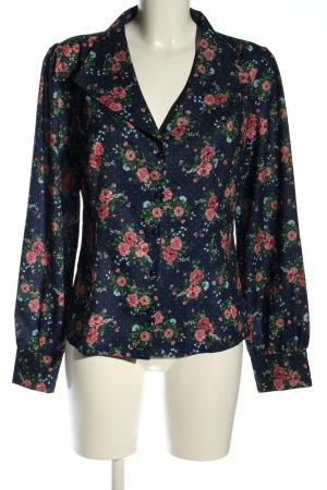 Collectif Langarm-Bluse Blumenmuster Casual-Look