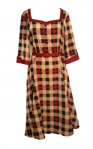 Collectif Vintage Midi Dress multicolored