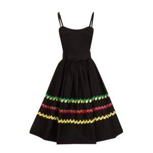 Collectif Midi Dress black
