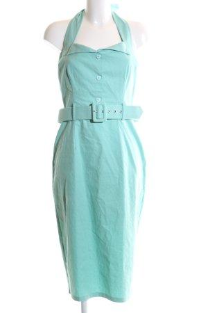 Collectif Vestido de cuello Halter turquesa estilo «business»