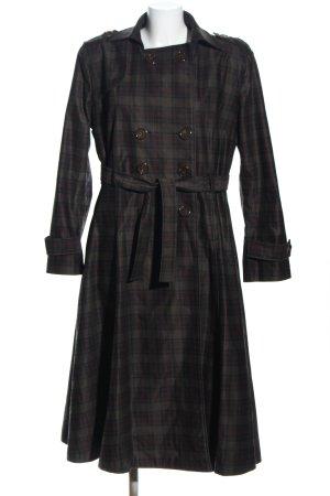 Collectif Between-Seasons-Coat black-brown allover print business style