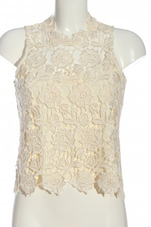 Collection ärmellose Bluse creme Blumenmuster Casual-Look