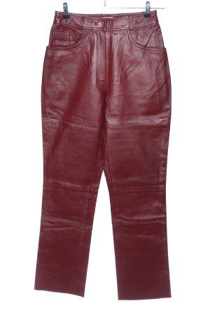 Collection Chalice Skórzane spodnie ciemnoczerwony Skóra
