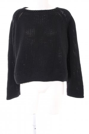 Collection Grobstrickpullover schwarz Casual-Look