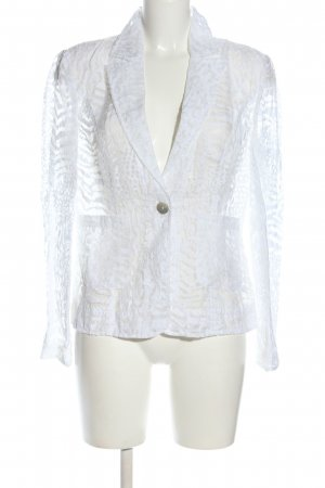 Collection Jersey Blazer white animal pattern extravagant style