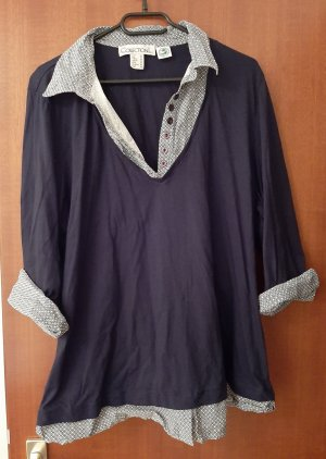 Collection L. 2 in 1 Longshirt Longbluse Shirt Bluse Top Business Look