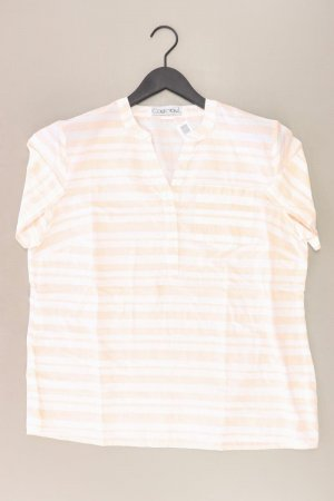 Collection L gestreifte Bluse Größe 44 Kurzarm creme aus Baumwolle