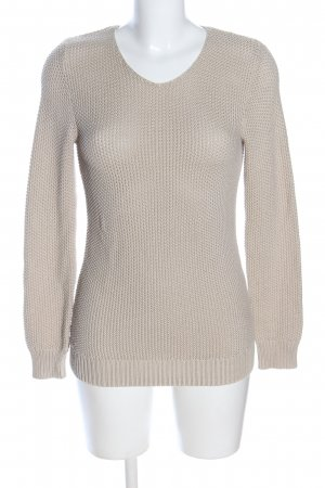 Collection L Häkelpullover creme Zopfmuster Casual-Look
