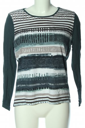 Collection L Longsleeve green-white striped pattern casual look