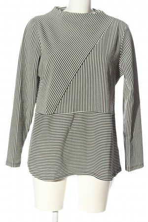 Collection Langarm-Bluse weiß-schwarz Allover-Druck Casual-Look