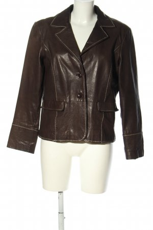 Collection Leather Jacket brown casual look