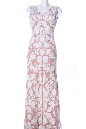 Collection Maxikleid nude-weiß Blumenmuster Elegant