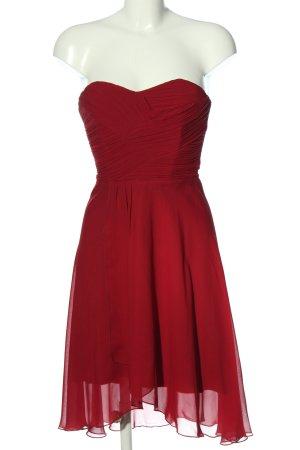 Collection Paris schulterfreies Kleid rot Elegant