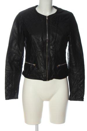 collection pimkie Veste en cuir synthétique noir style décontracté