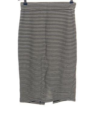 collection pimkie Gonna midi nero-bianco motivo a righe stile casual