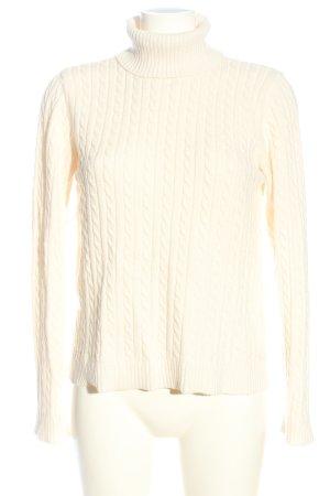 collection pimkie Maglione dolcevita bianco punto treccia stile casual