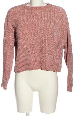 collection pimkie Maglione girocollo rosa punto treccia stile casual