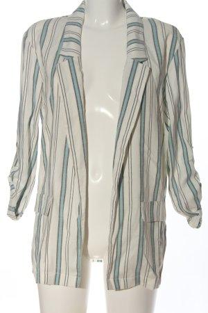 collection pimkie Blazer tejido blanco-turquesa look casual