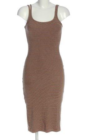 collection pimkie Abito scamiciato marrone-nero motivo a righe stile casual