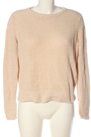 collection pimkie Warkoczowy sweter kremowy W stylu casual