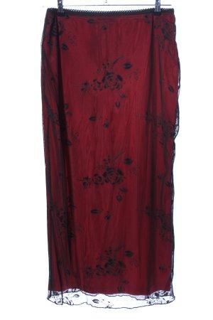 Collection Falda de encaje rojo-negro elegante