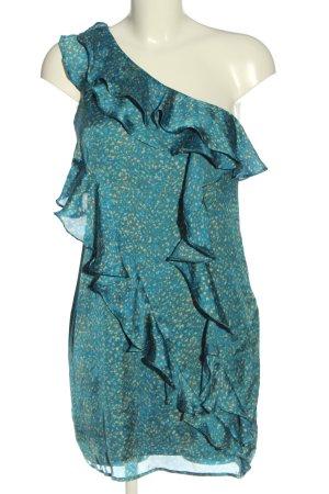 Collective Concepts Sukienka na jedno ramię Abstrakcyjny wzór W stylu casual