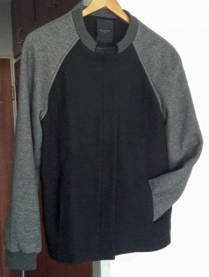 Selected Femme College jack zwart-grijs Wol