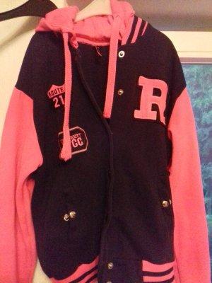Primark Blouson universitaire noir-rose