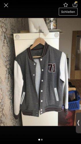 H&M Giacca college bianco-grigio