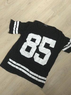 Vintage Print Shirt black-white