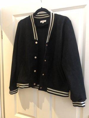 College Jacket black-cream