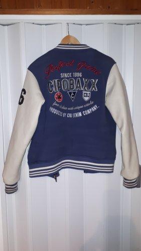 Cipo & Baxx College jack blauw-wit