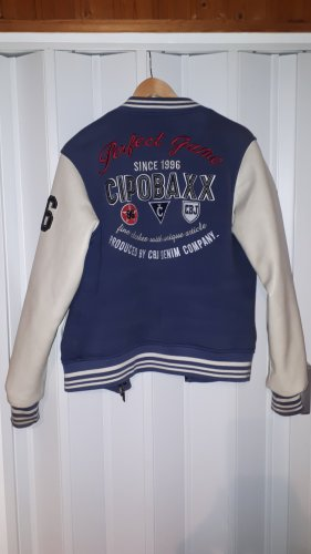 Cipo & Baxx Chaqueta estilo universitario azul-blanco