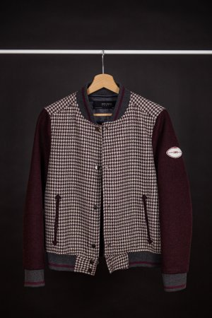 Collegejacke mit Hahnentrittmuster — GR.38(S)