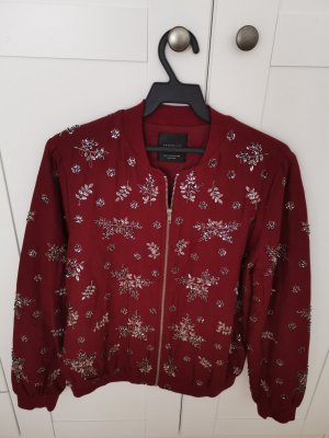 Zara College Jacket carmine